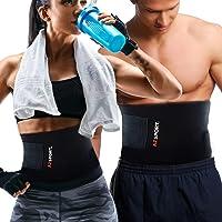 AZSPORT Waist Trimmer Trainer for Men / Women, Sweat Ab Belt for Weight Loss