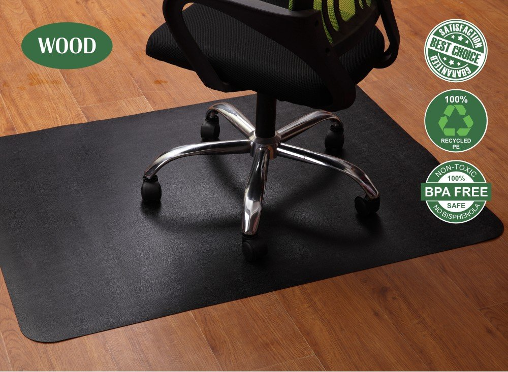 Office Chair Mat For Hardwood Floors 35x47 Inches Highly Durable Non Skid Floor Mats For Office Chair Multi Purpose Floor Protector In Neutral Gray Color For Office Or Home Use Lesonic 1540910874 138768
