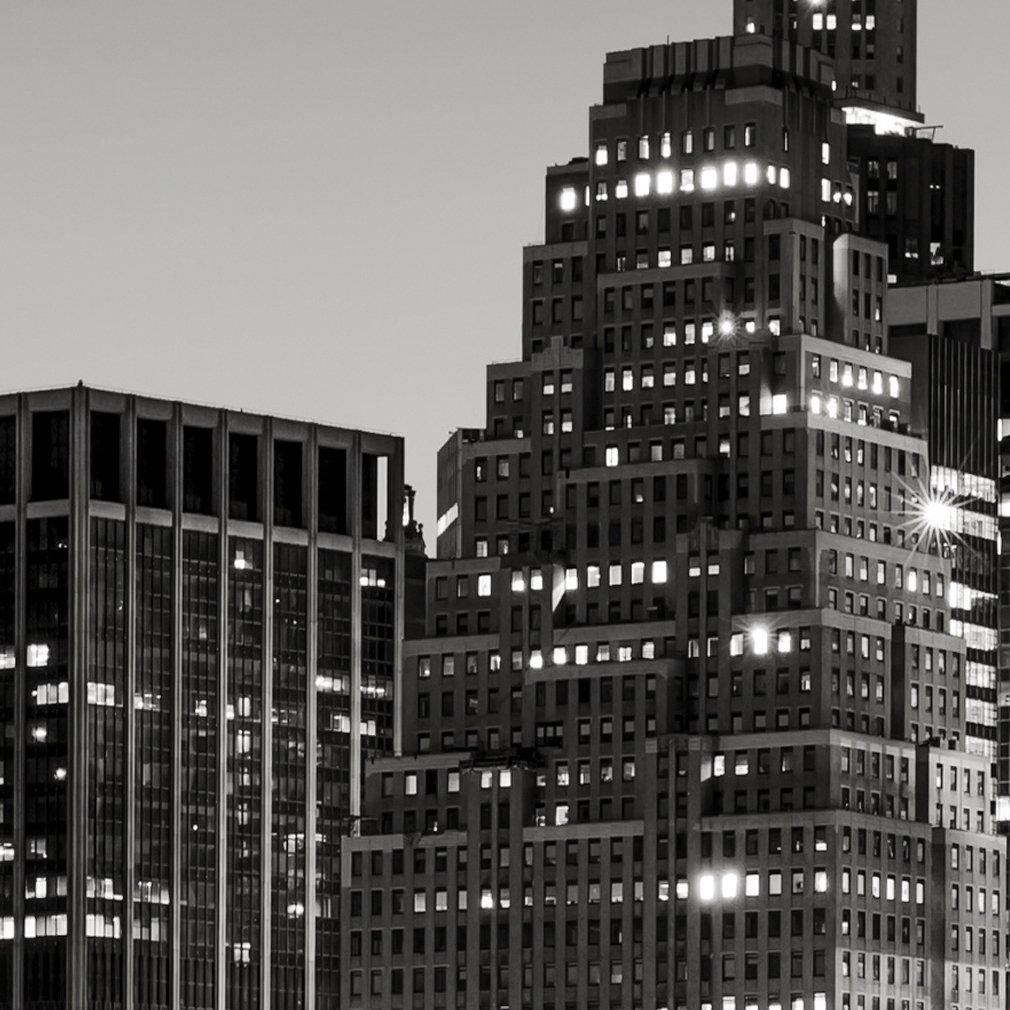Trennwand Vlies Leinwand Raumtrenner Sichtschutz spanische Wand Blickdicht Textile Haptik Stadt Wolkenkratzer decomonkey Paravent Raumteiler XXL Einseitig Foto New York 225x172 cm 5 TLG