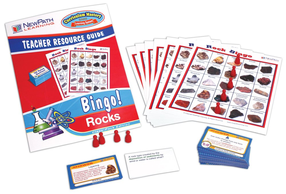 NewPath Learning Rock Bingo Game, Grade 5-9