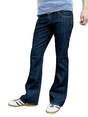Herren Indigoblau Bootcut ausgestellt Jeans Indie Retro - Indigo Dunkelblau,  30W x 30L