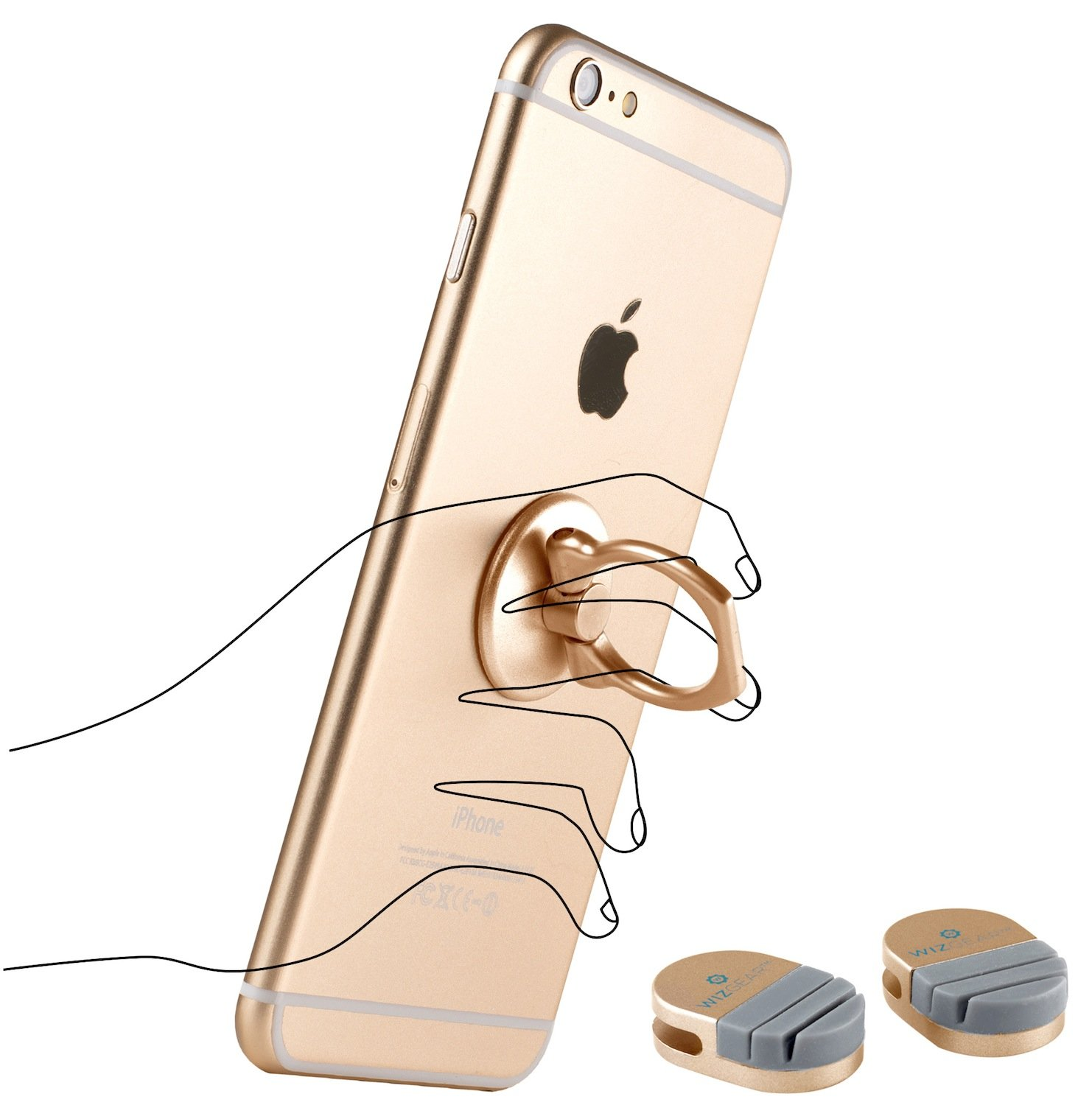 ring for phone wizgear universal ring holder grip