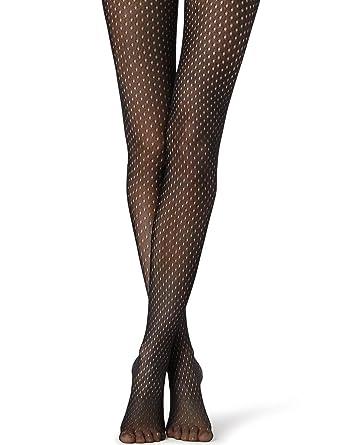 c56cf8b0f32 Calzedonia Womens Fishnet tights with Micro Polka-Dot Print  Amazon ...