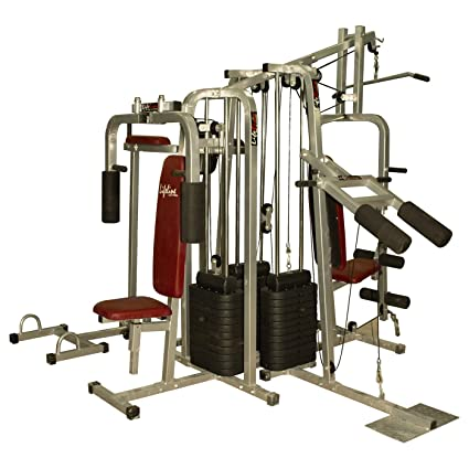 Lifeline 6 station home gym 3 weight lines: amazon.in: sports
