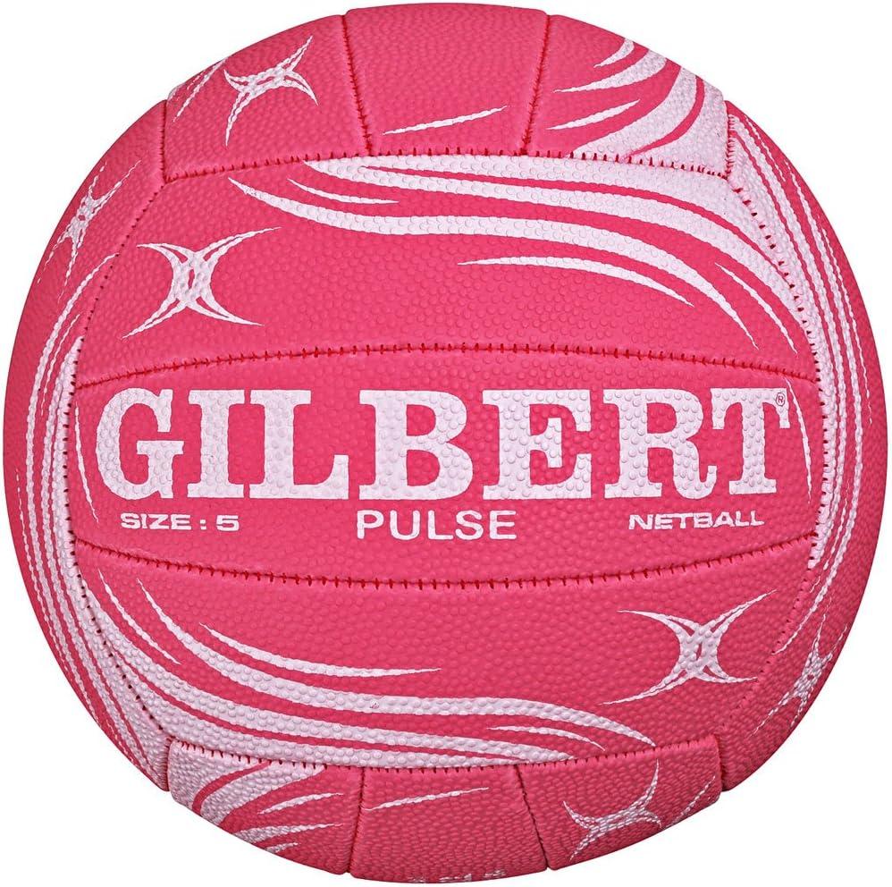 Gilbert Pulse Netball - Balón de fútbol (Talla 5), Color Rosa y ...