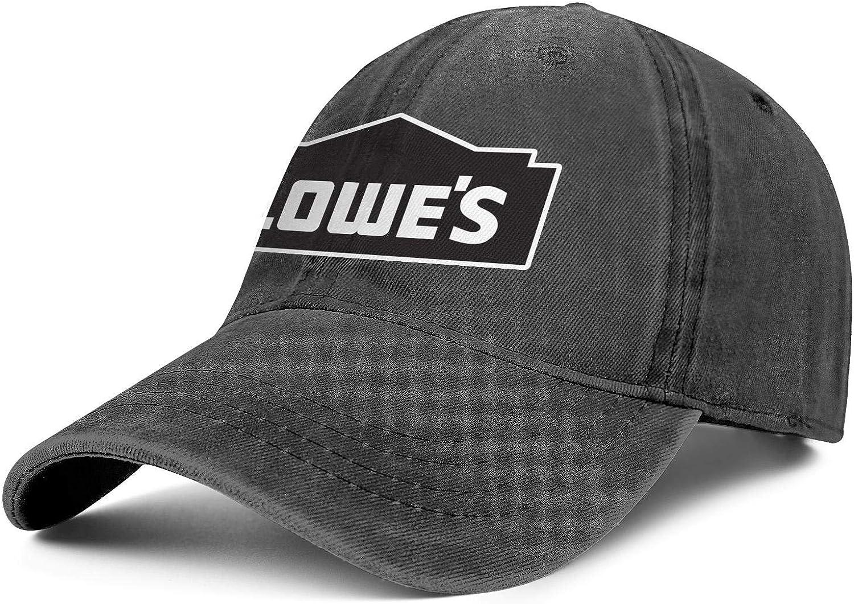 Denim Caps Cricket Cool Lowe's-Pure-White-Hollow-Logo- Baseball Cap Plain Adjustable Hats