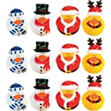 Fun Express Christmas Holiday Rubber Ducky - 12 Count
