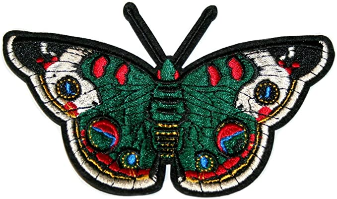 Iron On Patch for Clothes Jeans Fabric Applique DIY Butterfly Embroidery Sew