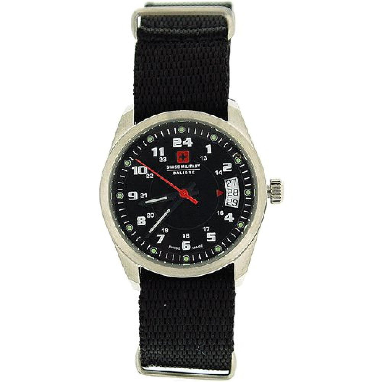 SWISS MILITARY SM06-4T1 Trooper Damen-Sportarmbanduhr mit schwarzem Nylonarmband