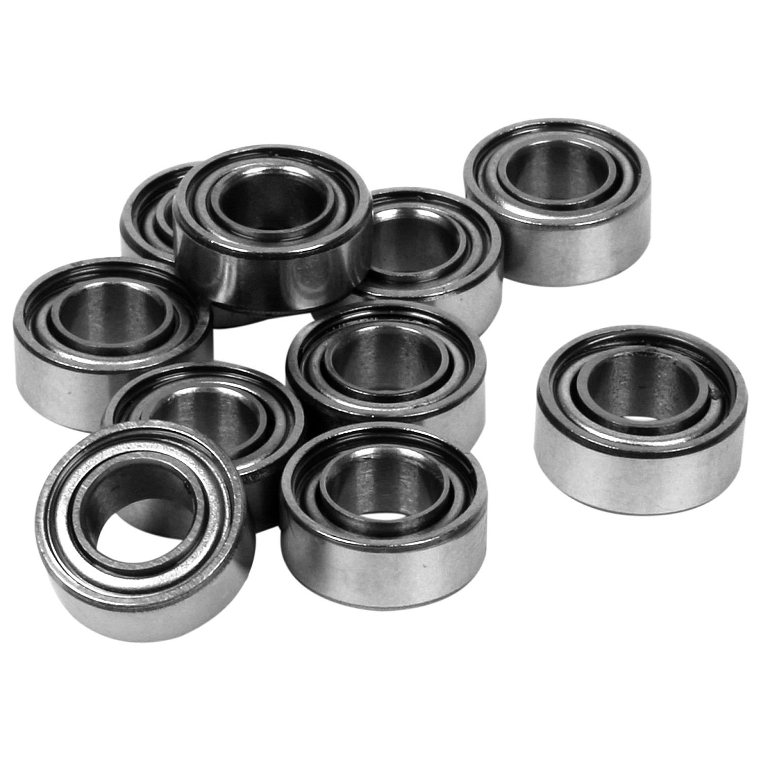 SODIAL(R) 10pcs Miniature Sealed Metal Shielded Metric Radial Ball Bearing Model: MR105 ZZ 5x10x4MM