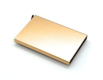 J&J - Porta Tarjetas de crédito de Aluminio antifraude, Porta ...