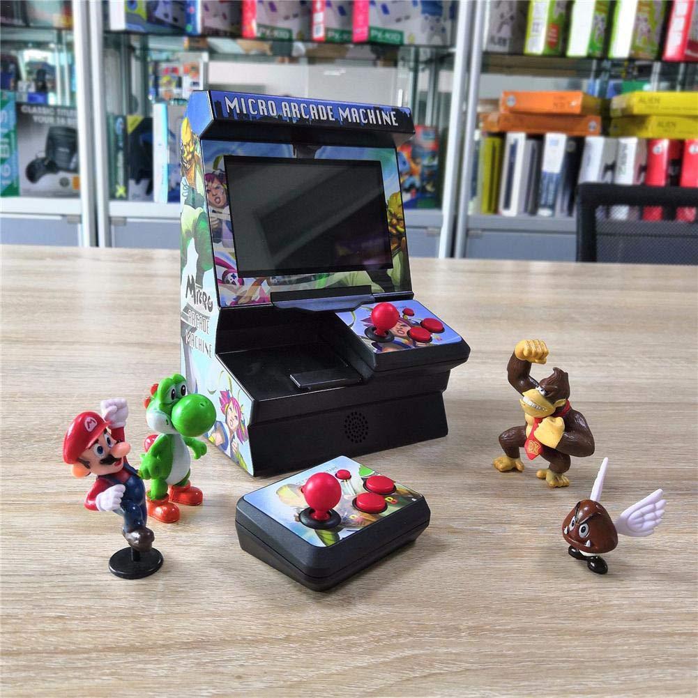 kingpo Nuova Macchina da Gioco Mini-Arcade FC 4.3 Macchina da Gioco palmare Classica da 8 Bit Microtelefono Neutro a Schermo Grande Senza Fili 300 Giochi nostalgici integrati marvelously