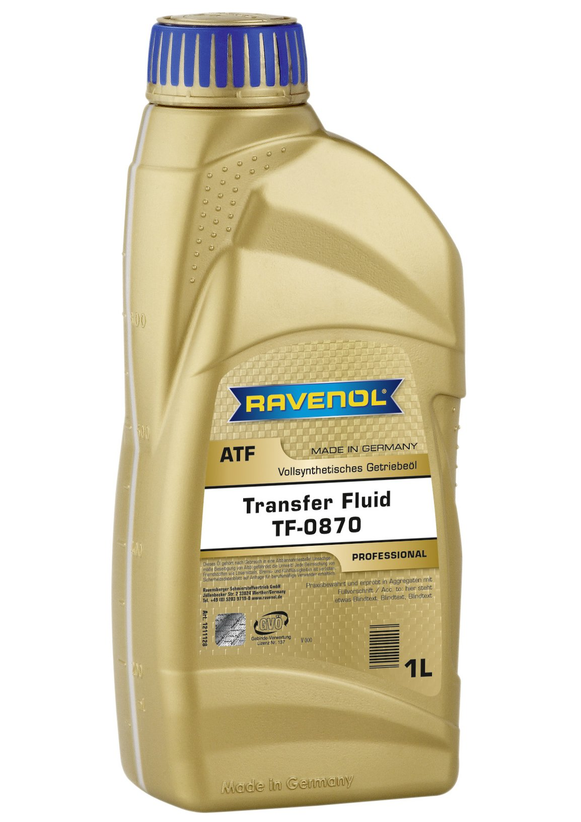 Ravenol J1C1125 Transfer Case Fluid TF-0870 - Full Synthetic (1 Liter)