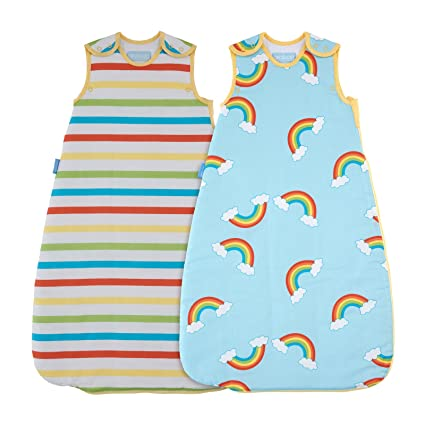 05c3ee7fb36 The Gro Company Rainbow Stripe Grobag Baby Sleeping Bag Day and Night Twin  Pack, 0-6 Months, 1.0 and 2.5 Tog: Amazon.co.uk: Baby