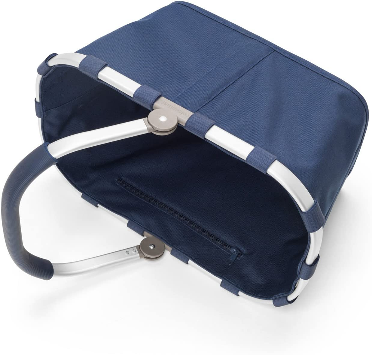 reisenthel Carrybag Fabric Picnic Tote Dark Blue Sturdy Lightweight Basket for Shopping and Storage