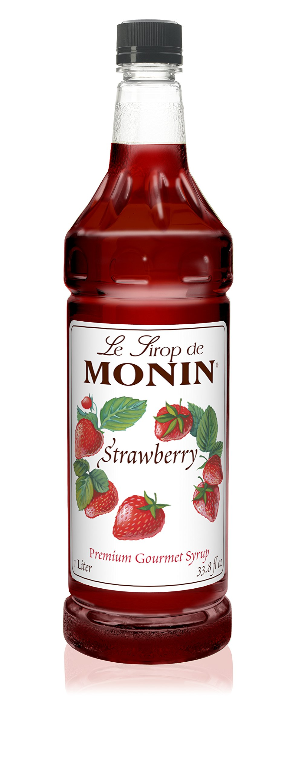 Monin - Strawberry Syrup, Mild and Sweet, Great for Cocktails and Teas, Gluten-Free, Vegan, Non-GMO (1 Liter)