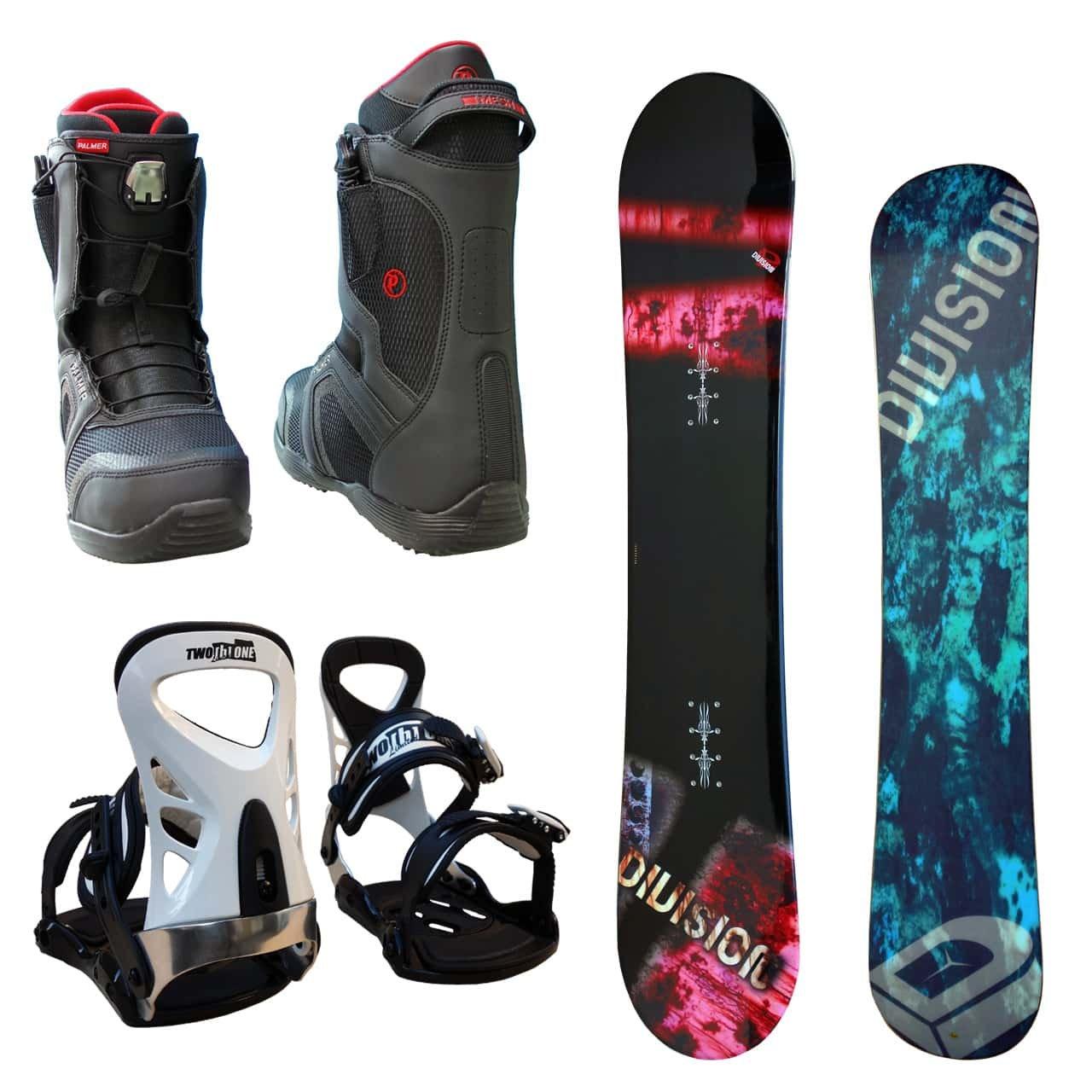 DIVISION メンズ スノーボード3点セット スノボー+バインディング+クイックシューレースブーツ B078ZZ6DMS ボード 152+ブーツ 26.5|ボード レッド+binding ツートン+bootsブラック ボード レッド+binding ツートン+bootsブラック ボード 152+ブーツ 26.5