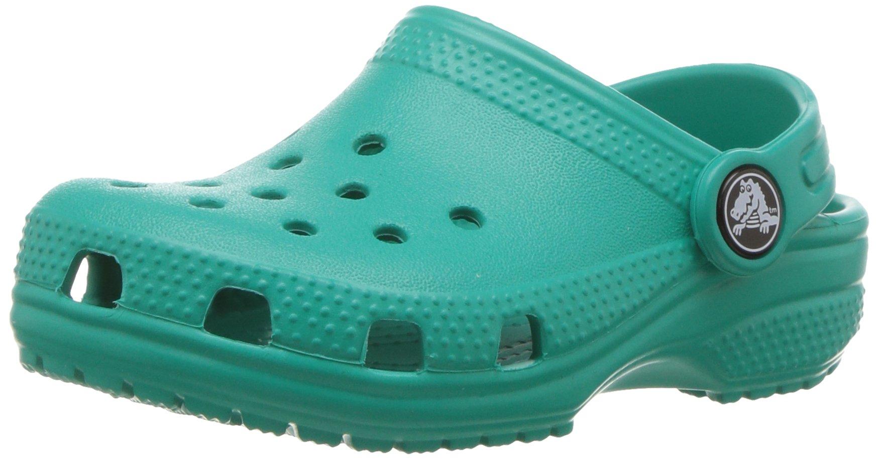 Crocs Kid's Classic Clog K Shoe, Tropical Teal, 3 M US Little Kid