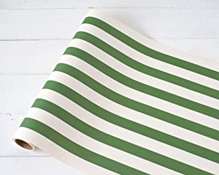 product image for Striped Table Runner - Dark Green Paper Table Runner for Parties or Weddings - American Made
