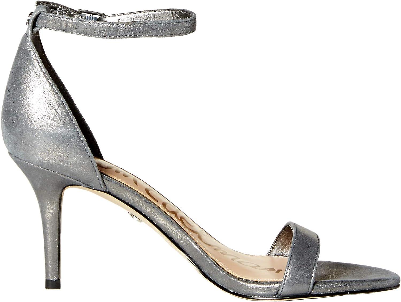 Sam Edelman Femmes Dark Pewter Metallic Leather
