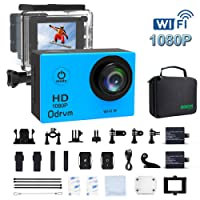 WIFI Underwater Camera HD 1080P 12mp Sports Action Cameras Waterproof Camera Diving 30M Water Camera With 2.0-Inch LCD for Motorcycle,Bike,helmets,Kids,Drone, Hunting,And Water Sports