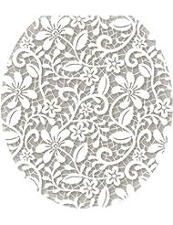 Toilet Tattoos TT-1089-R Lovely Lace Toilet Lid Applique