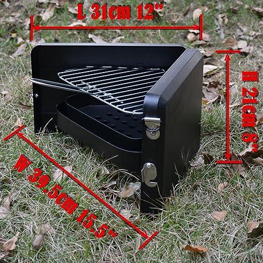 FNFLD Barbacoa De Picnic Parrilla De Acero Inoxidable Parrilla Casera Portátil Al Aire Libre Barbacoa Parrilla Pequeña De Carbón Al Aire Libre Parrilla De ...