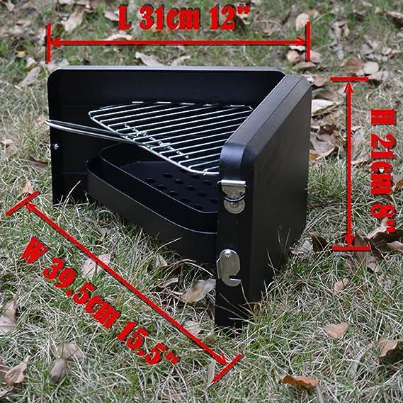 DGDNB Parrilla De Acero Inoxidable Parrilla Casera Portátil Al Aire Libre Barbacoa Parrilla Pequeña De Carbón Al Aire Libre Parrilla De Viaje Parrilla BBQ: ...