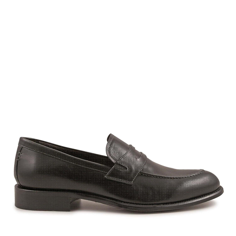 Men's 3728MONTECARLO Black Leather Loafers
