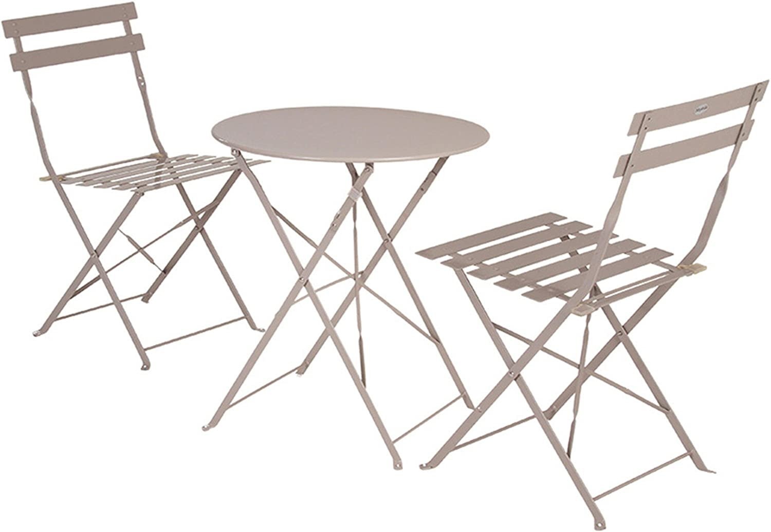 Table Camargue ronde 2 personnes Hesp/éride taupe