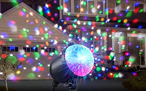 ion holiday party plus multicolor projected lights with simple outdoor setup remote control