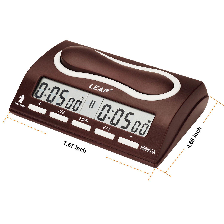 Multifuncional Pantalla Digital Reloj de Ajedrez - Cuenta hasta Down Temporizador Electrónica para Juego de Ajedrez - Ideal Contador de Tiempo de Ajedrez ...