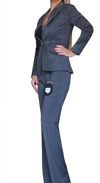bab25e60db815 Phard completo tailleur due pezzi donna elegante giacca pantalone bottone  gioiello inverno lana s m l