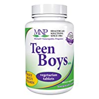 Michael's Naturopathic Programs Teen Boys Tablets - 60 Vegetarian Tablets - Daily Multivitamin & Mineral Supplement with B Complex Vitamins & Male Herbal Blend - Kosher - 30 Servings