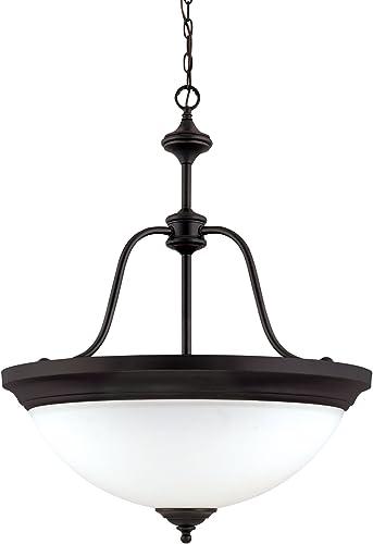 Nuvo 60 1788 Glenwood Large 4-Light Pendant, Sudbury Bronze
