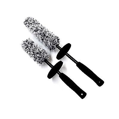 Redline Finish - The Duo Ultimate Microfiber Wheel Brush Set - Premium 17 inch & 13 inch Wheel Brushes: Automotive