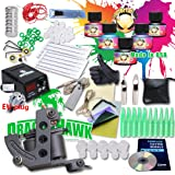 Generic Starter Tattoo Kit Machines USA Brand Inks Colors Top CE Power Supply K4EUYMX