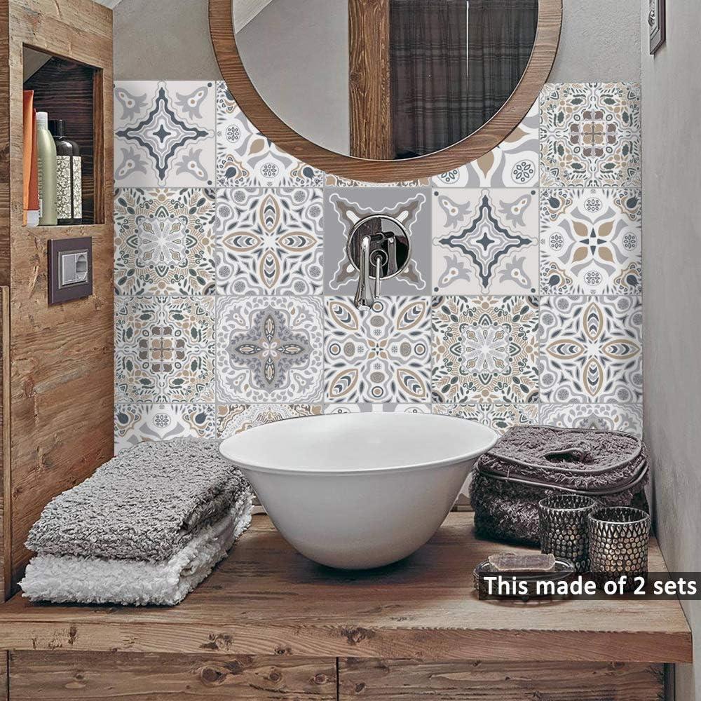 Home Furniture Diy Floor Wall Tiles Tile Stickers Transfer Traditional Kitchen Bathroom Mosaic Sticker Self Adhesive Mtmstudioclub Com