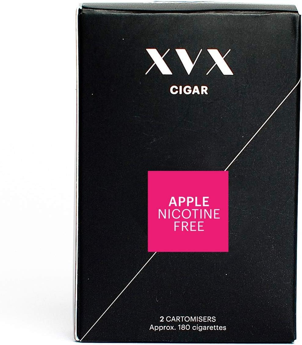 XVX CIGAR Refill Electronic Cigar Refill Apple Flavour 1800 Puffs Per 2 Pack 900 Puffs Per Cartridge E Cigarette E Cigarettes Shisha Nicotine Free