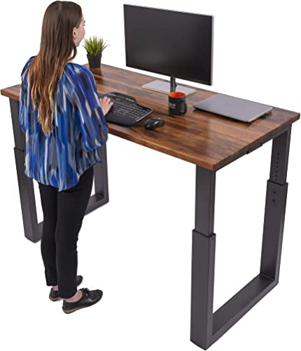 Deal of the week: Stand Up Desk Store Solid Wood Manual Height Adjustable Standing Desk Meeting Conference Table Black Frame/Natural Walnut