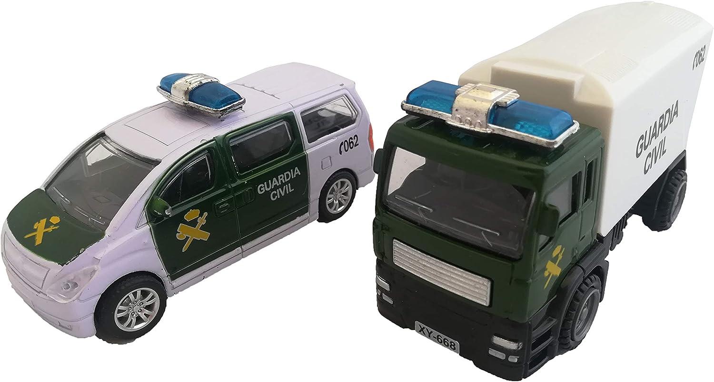 LCQI Coche Policia Nacional Guardia Civil Camión Pack 2 Juguete Regalo Cumpleaños España (Guardia Civil): Amazon.es: Juguetes y juegos