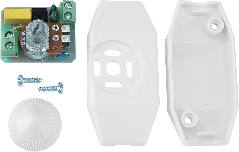 regulador de luz interruptor de apagado regulable entre 1-40 vatios con ajuste de progresi/ón continua Dimmer led Buchenbusch Urban Design dimer para luces LED y bombillas regulables
