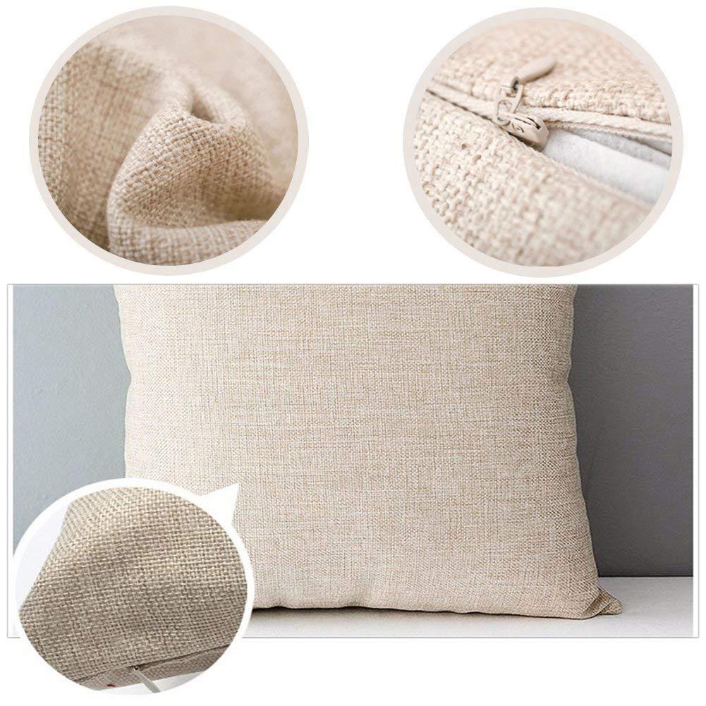 LoveHome Decor Autumn Theme Throw Pillow Cover 18x18 inch Truck Pumpkin Patch Pillow Case for Thanksgiving Farmhouse Decorative, Cotton Linen