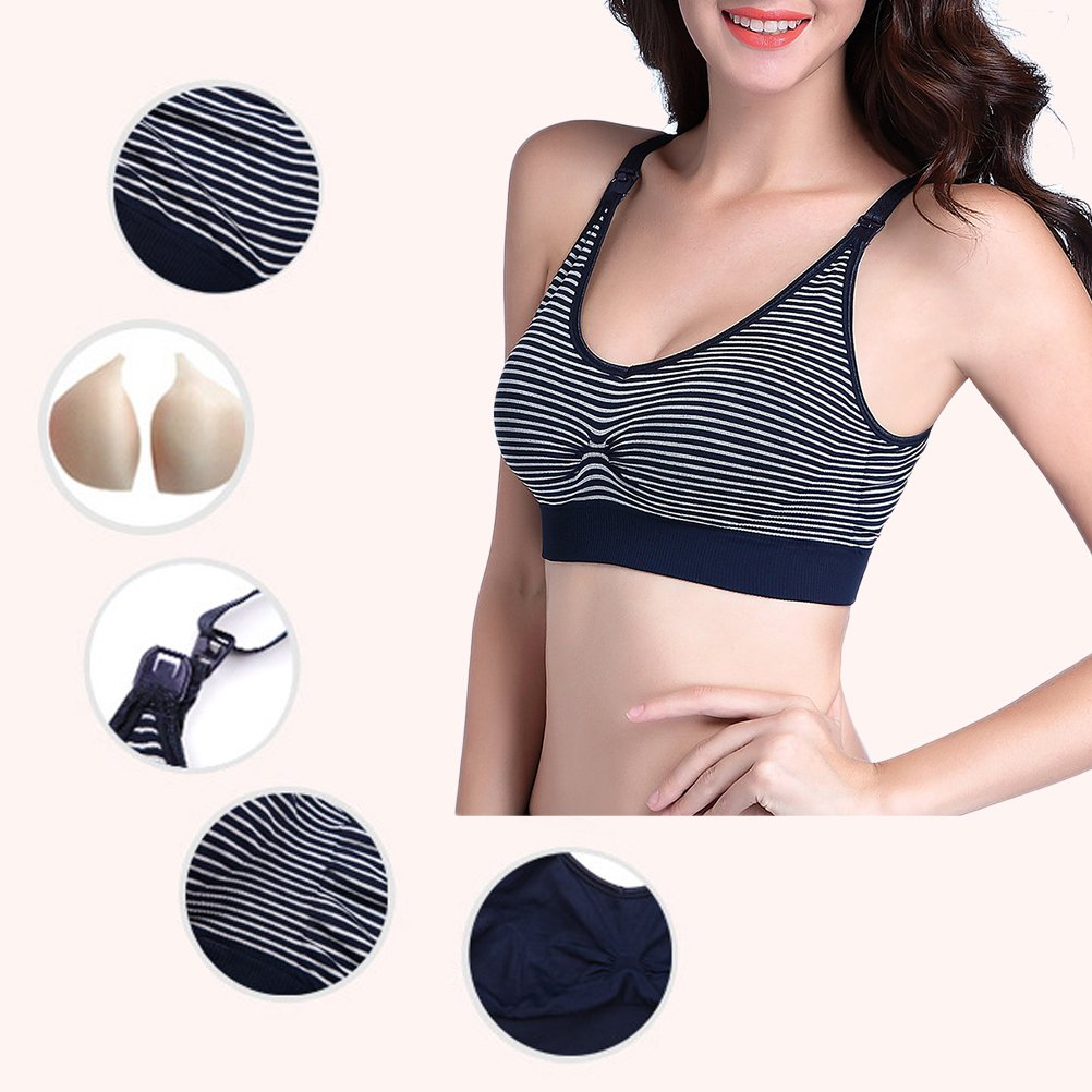 Zhuhaitf Fine Fabric Tank Tops Breastfeeding Front Buckle Support Bras For Maternity by Zhuhaitf (Image #4)