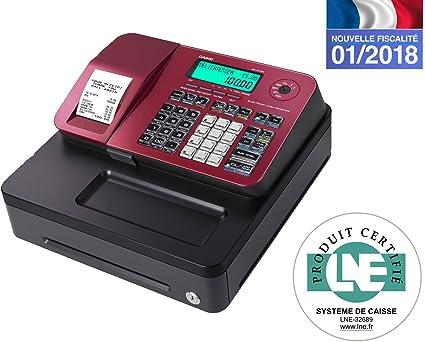 Casio se-s100sb-rd-fr caja registradora Rojo: Amazon.es: Oficina y ...