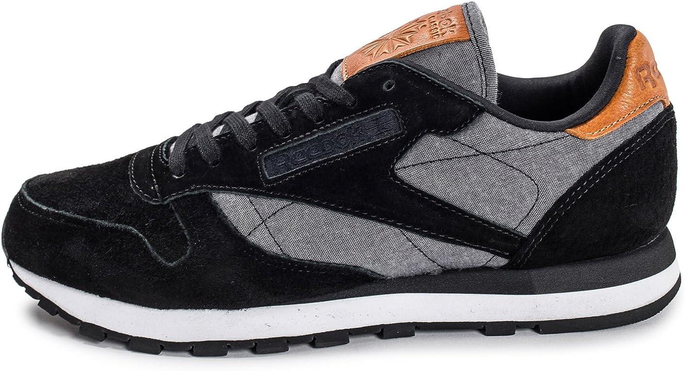 Reebok Classic Leather Chambray Noire Noir 44: