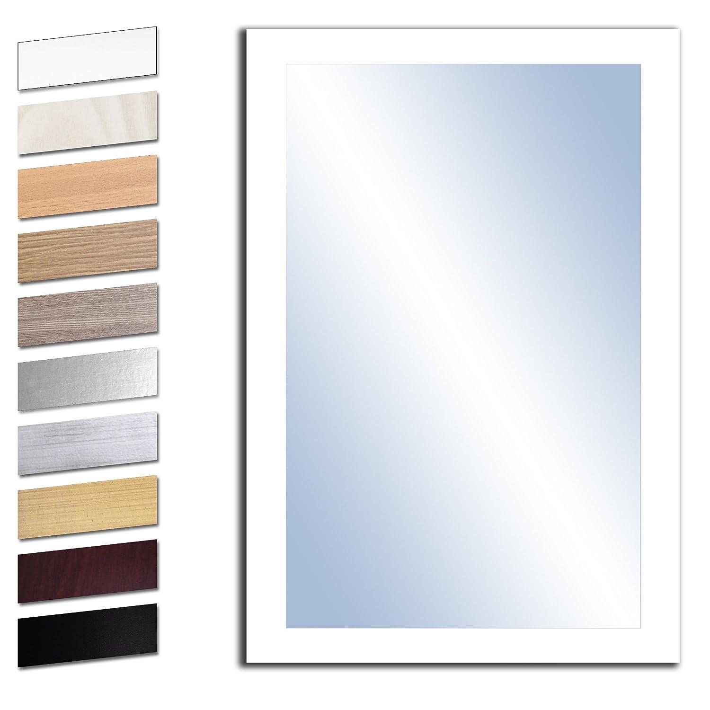 Bilderdepot24 Wandspiegel Spiegel Badspiegel Holzrahmen komplett mit Echtglas - WEIß - ca. 90x60 cm