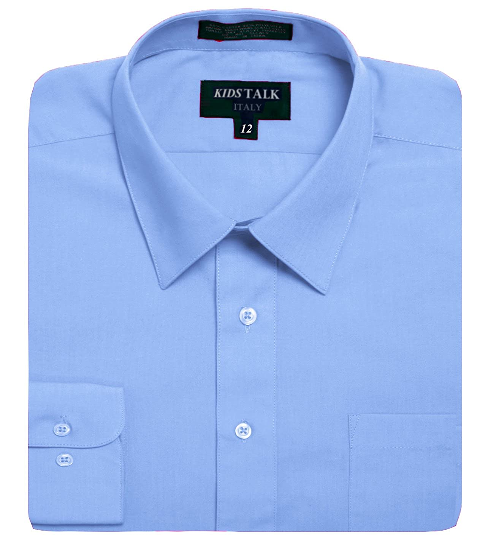Kids Boys Solid Color long sleev Dress Shirts (23 Colors, Size 4-20) BOGU055-$P