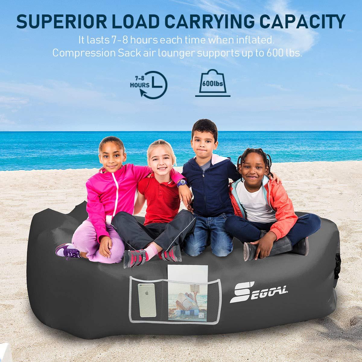 Amazon.com: SEGOAL - Tumbona inflable de aire para sofá ...
