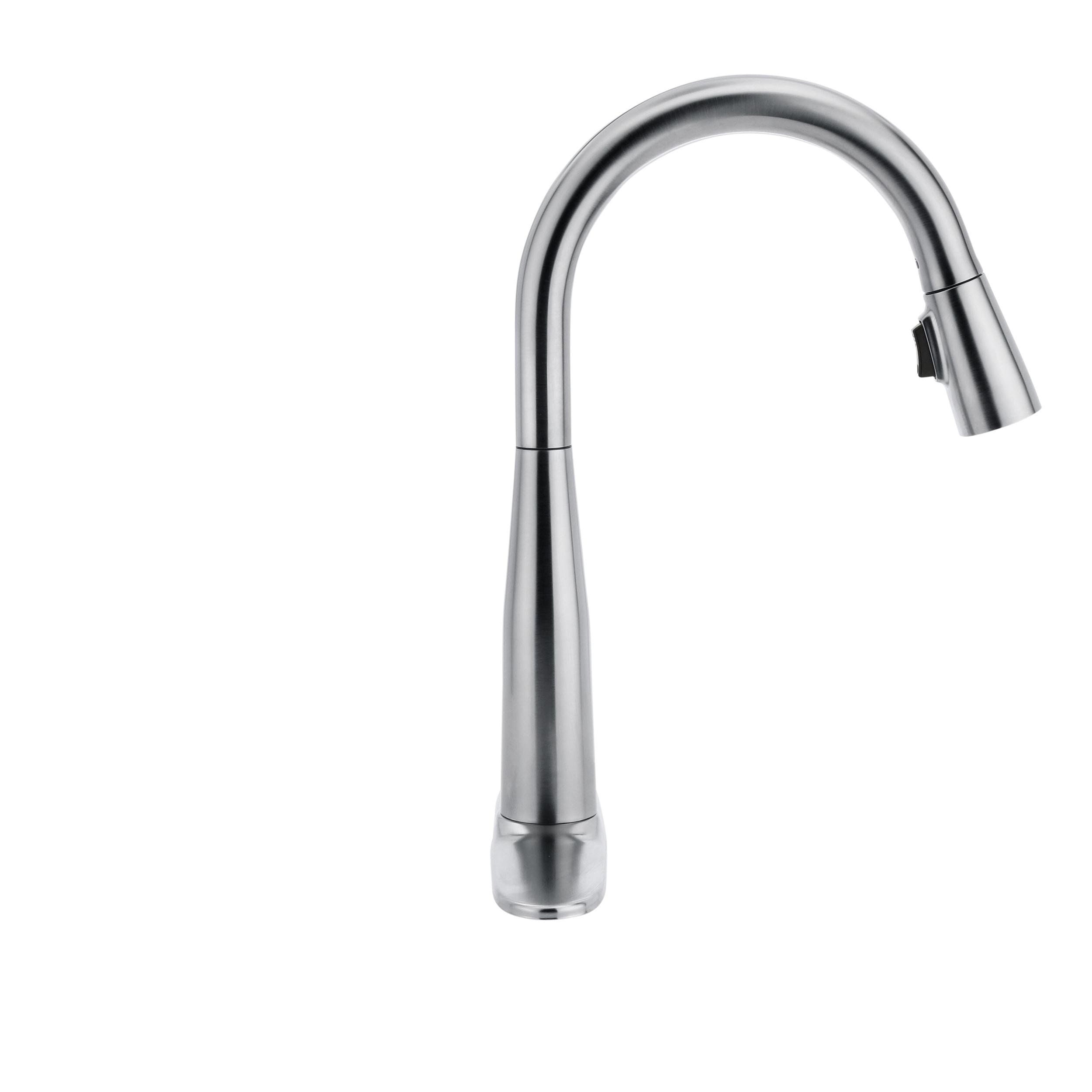 Delta Faucet Essa Single-Handle Kitchen Sink Faucet with Pull Down Sprayer and Magnetic Docking Spray Head, Arctic Stainless 9113-AR-DST by DELTA FAUCET (Image #10)